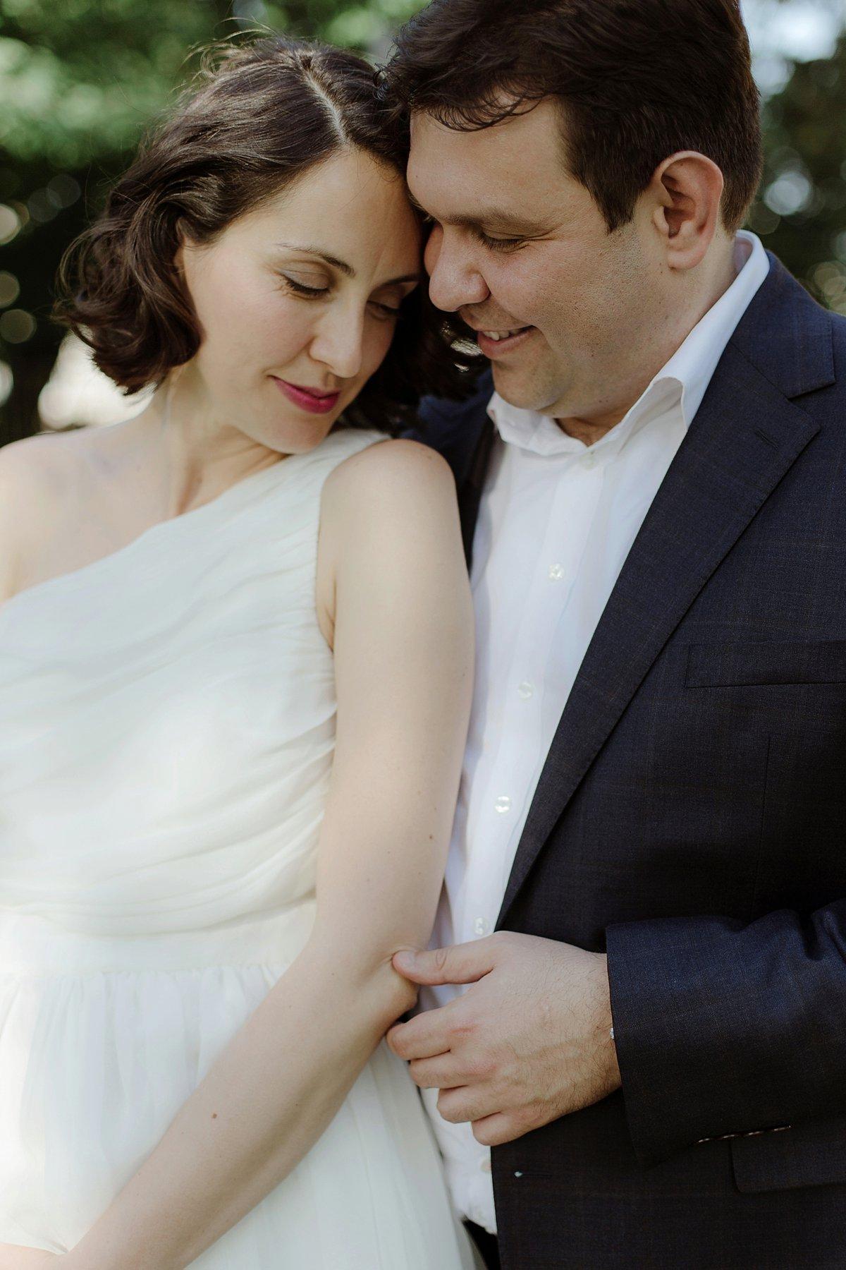 romantic senior couple hugging