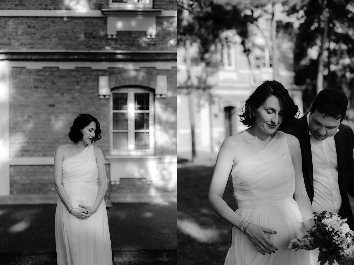 pregnant bride portrait
