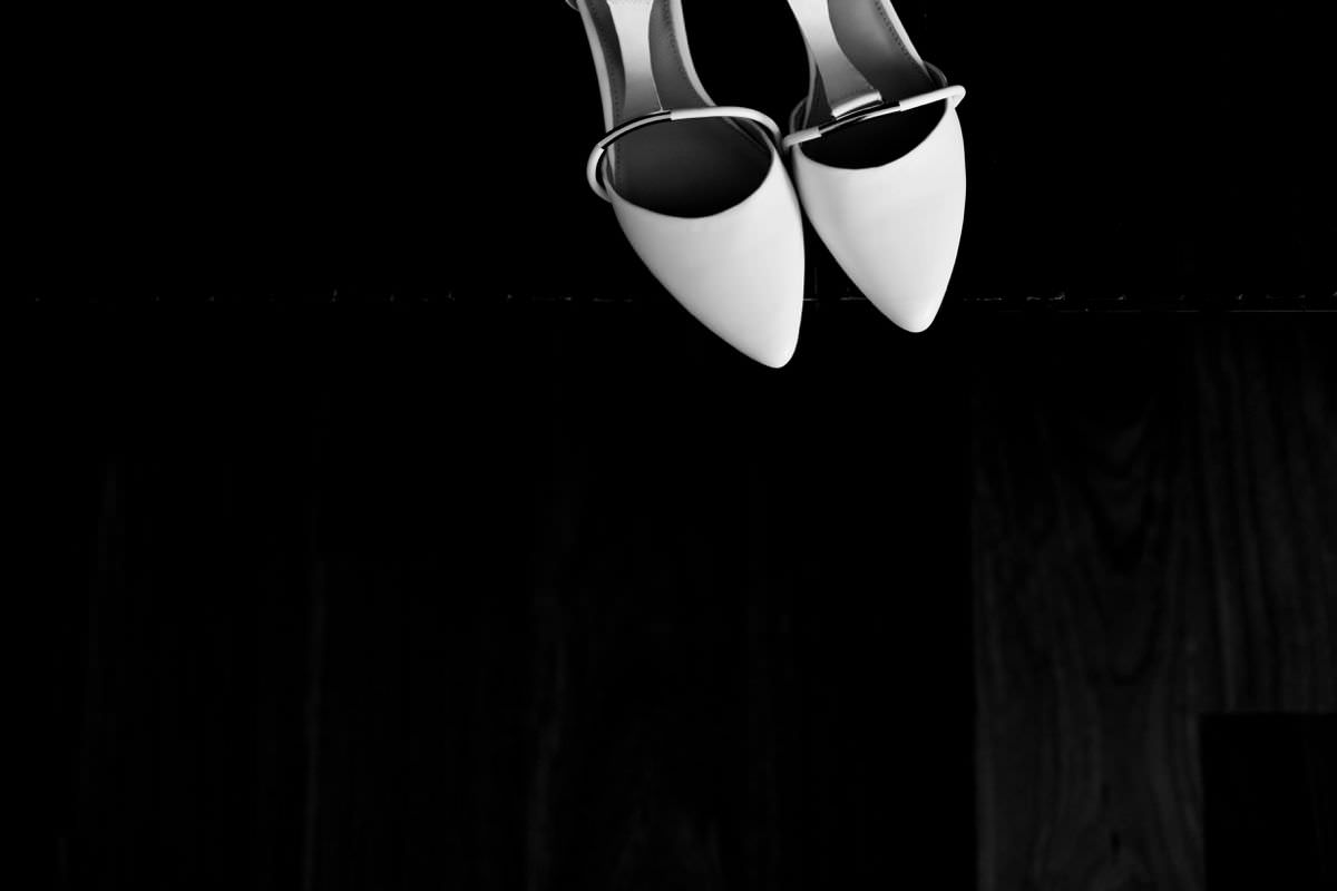 modern simple bridal shoes