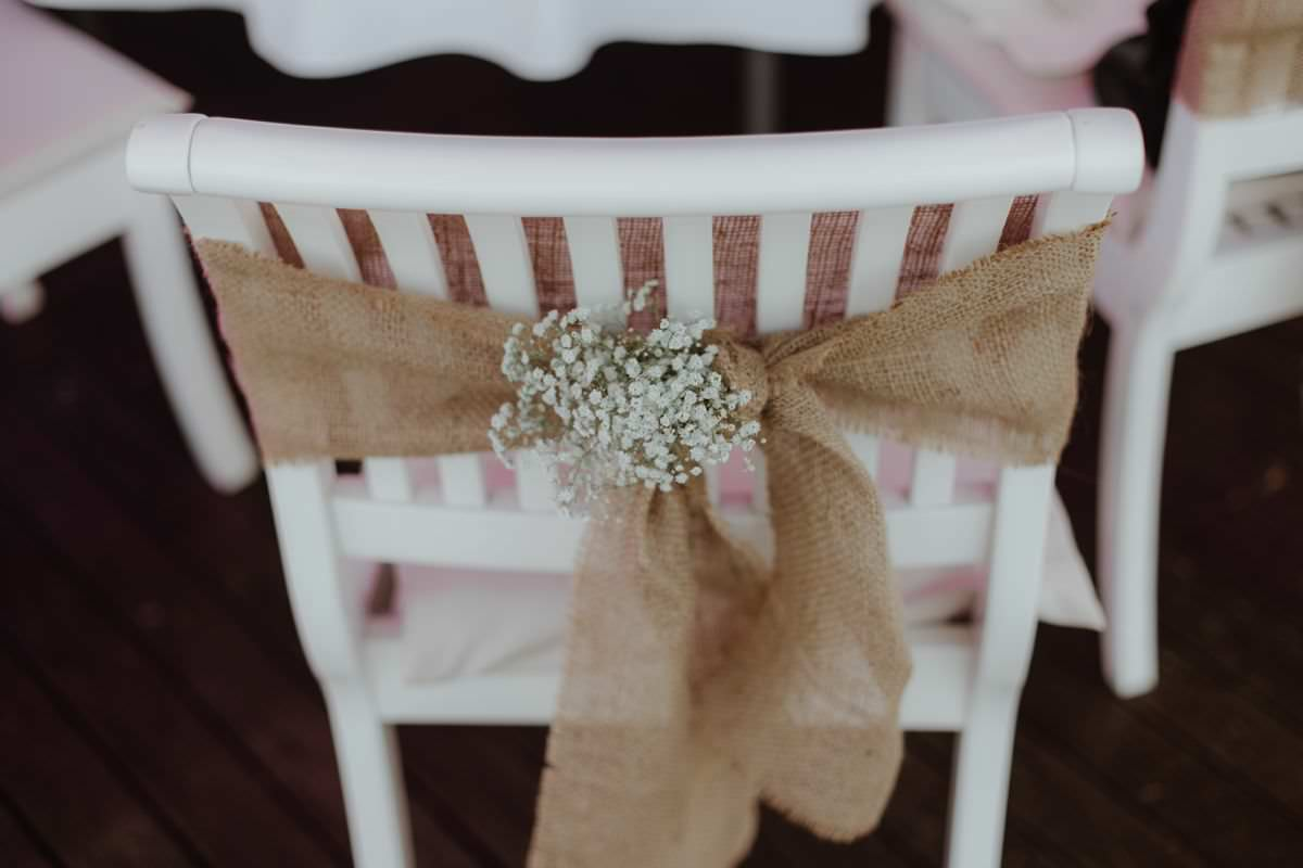 simple elegant chair decoration wedding