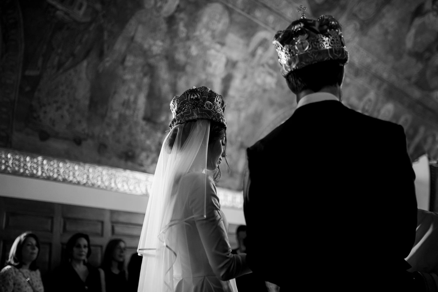 Intimate church wedding in Belgrade